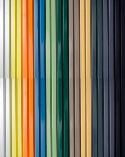 Målat aluminium, alla RAL Classic-färgkartatoner