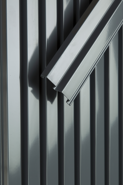Aluminum, standard dark grey  RAL7024